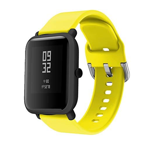 🥇 DIPOLA Correas de Reloj de Repuesto de Silicona para Xiaomi Huami Amazfit Bip Youth Watch—