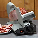 8.7in. Stainless Steel Electric Food Slicer - Suddenly Your Kitchen is a Deli