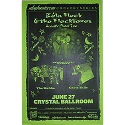 Bela Fleck Flecktones Chris Thile Nickel Creek Rare Concert Tour Gig Poster