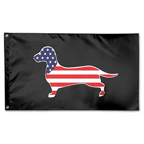 Dachshund American Flag 3 X 5 Outdoor Decorative Yard Flag Home Garden Flag