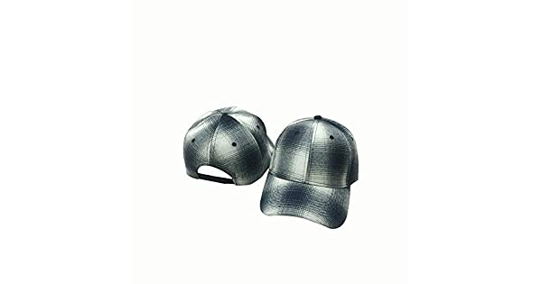 Fashion Mens and Womens Fashion England Black and White Plaid Hipster Baseball Hat Comfortable Color : Blue, Size : Adjustable