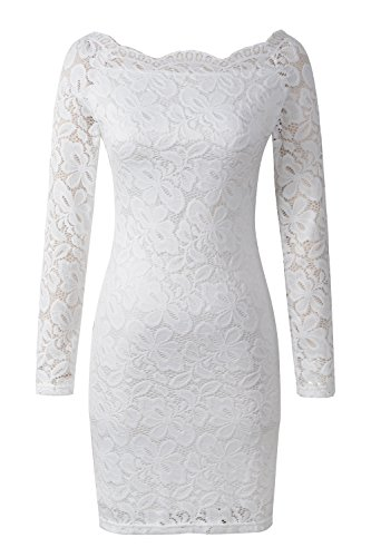 Lace Boatneck Dress - 8