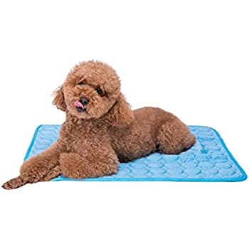 Faith Force Pet Cooling Mat - Ice Silk Cooling Mat for Dogs & Cats, Portable & Washable Pet Cooling Blanket for Outdoor, Car Seats, Beds and More in Summer(M)