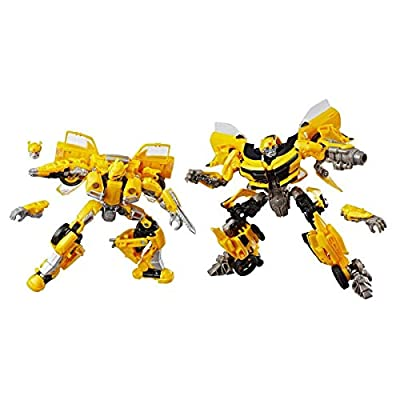 Transformers Studio Series 24 and 25 Deluxe Class Bumblebee 2-pack Including 1967 Volkswagen Beetle Bumblebee Movie Version and 2016 Chevrolet Camaro The Last Knight Movie Version: Toys & Games