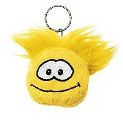 Disney Club Penguin Keychain 2 Inch Plush Puffle Yellow: Toys & Games
