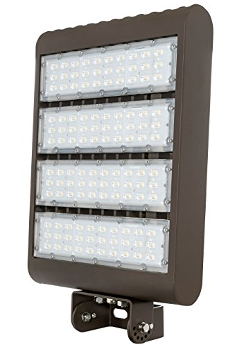 Westgate Lighting Outdoor LED Flood Light Fixture Yoke Mount – Shoebox Street Area Parking Pole Security Floodlights – 120-277V – IP65 Waterproof UL Listed DLC Approved (300 Watt, 3000K Warm White)