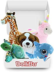 DolliBu Plush Huggable Zoo Monthly Subscription - Super Soft Fur, Cute, Cuddly & Adorable Stuffed Animal T