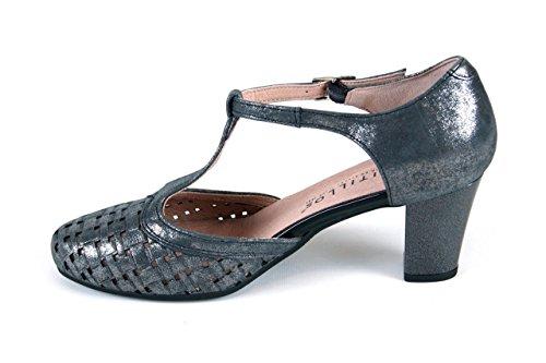 Talla 5057 40 Gris Pitillos Zapatos Metalizado UgnZ7xq