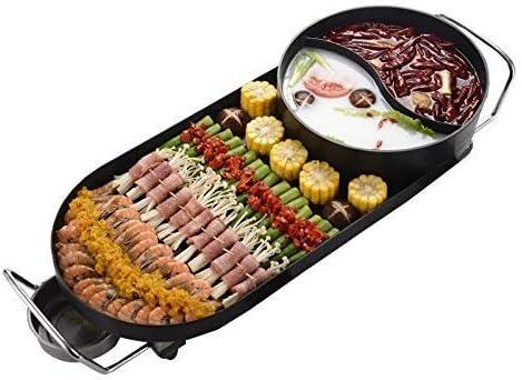 DHGG Casserole antiadhésive pour Barbecue électrique Elitek Design coréen Hot Pot sans fumée