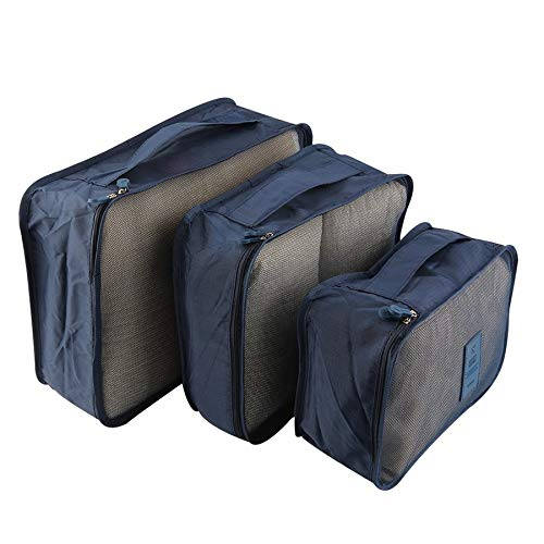6pcs//Set Portable Waterproof Clothes Storage Bag Packing Cube Travel Luggage Organizer Durable Clothes Sock Bra Storage Bag