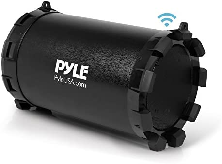 Pyle Portable Speaker, Boombox, Bluetooth Speakers, Rechargeable Battery, Surround Sound, Digital Sound Amplifier, USB SD FM Radio, 2.1 Channel Hi-Fi Active Stereo Speaker System, Black PBMSPG15