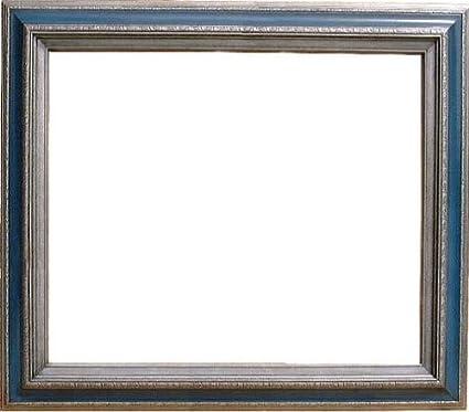 Amazon.com - Natural Wood Frame 20 X 24 Open Back Dark Silver Blue ...