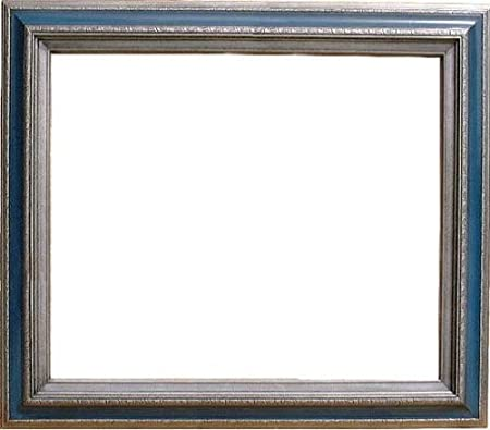 Natural Wood Frame 20 X 24 Open Back Dark Silver Blue Melissa Style ...