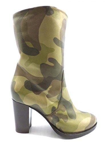 ALBERTO GOZZI Bottes Femme marron militare cuir