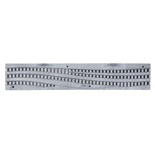 NDS 253GYRTL Speed-D Channel Decorative Grates, Gray