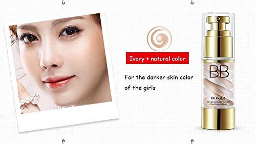 Double Color Ice Cream Isolation Cushion BB CC Cream Breathable Liquid Concealer Foundation Face Primer Base Nude Makeup BIOAQUA (02 #)