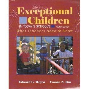 Exceptional Children in Todays Schools, 3rd edition
