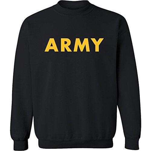 (Black ARMY Crewneck Sweatshirt with Gold print - X-Large)