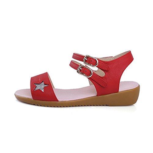 Sandali Con Fibbia Aperta In Pelle Di Vitello Assortiti Color Antracite
