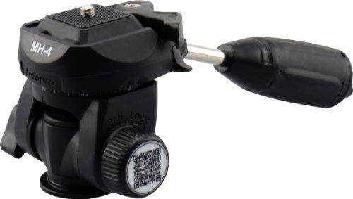 Rollei MH-4 leichter Stativkopf - bis zu 2,5 kg Belastbarkeit, mit Schnellwechselplatte und Wasserwaage - Schwarz