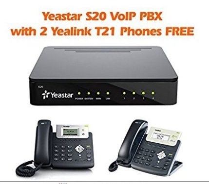 YeaStar YST-S20 VoIP SIP IP PBX 20 Ext w 2 Yealink T21 Phones Free