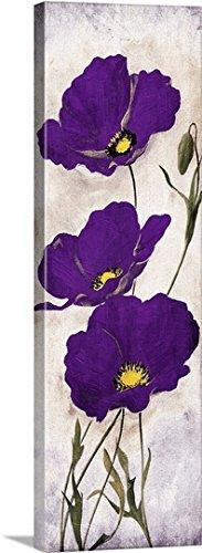 Jace Grey Premium Thick-Wrap Canvas Wall Art Print entitled Purple Look II