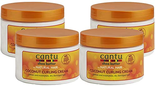 Cantu Shea Butter for Natural Hair Coconut Curling Cream 12 oz. (Pack of 4)