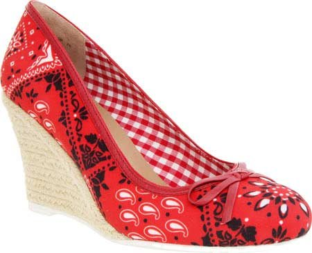 Nina Womens Muriel Closed Toe Wedge Pumps Red Bandana odmVMk