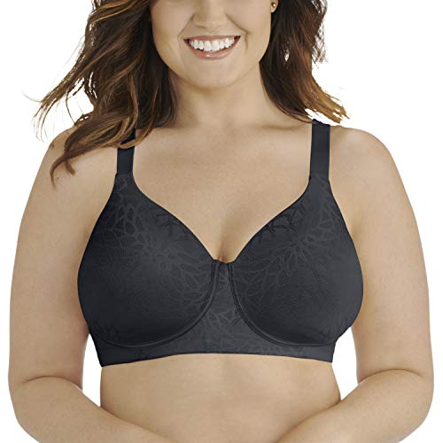 Vanity Fair Women's Beauty Back Full Figure Wirefree Bra 71380, Midnight Black Lace, 38DD - Lace Full Figure Underwire Bra