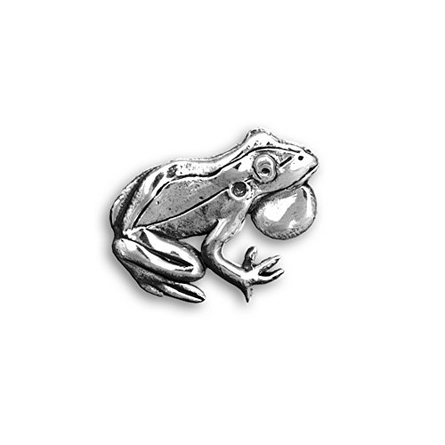 The Magic Zoo Sterling Silver Frog Pin