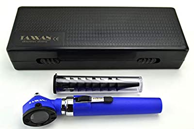 TAXXAN Fiber Optic Otoscope Set Blue in CASE ENT Diagnostic Set Otoscope with Disposable Speculum