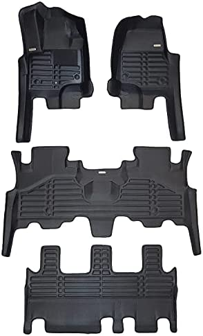 TuxMat Custom Car Floor Mats for Lincoln Aviator 6-Seater 2020-2022 Models– Laser Measured, Largest Coverage, Waterproof, All Weather. The BestLincoln Aviator Accessory (Full Set – Black)