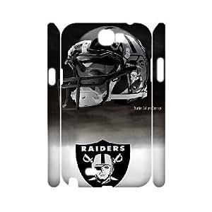 3D Samsung Galaxy Note 2 Case Oakland Raiders., Tyquin, [White]