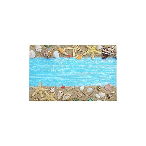 InterestPrint Custom Sea Shell Starfish Area Rug 2'7″ x 1'8″, Sand Beach Seashell Modern Floor Rug Mat Carpet Collection for Living Dining Room Home Decoration Review