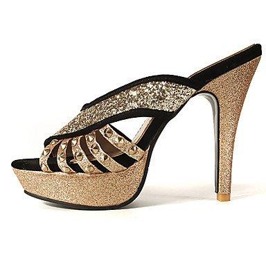Enochx sandali da donna primavera estate autunno Club scarpe in pile glitter wedding party & abito da sera tacco a spillo con paillettes blu, rosso, nero, rosso, us11.5/EU43/uk9.5/CN45