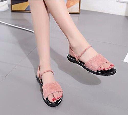 All'Aperto Europeo Pink Codice BTBTAV Con 35 Fondo 35 Piatto Code Pantofole Beige Scivolo D'Estate A European Lady gwxqFfA