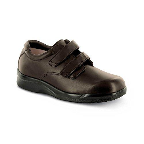 Apex Men's Ambulator Conform Double Strap Velcro Brown Walking Shoes - Size 15 (Ambulator Conform Shoe)