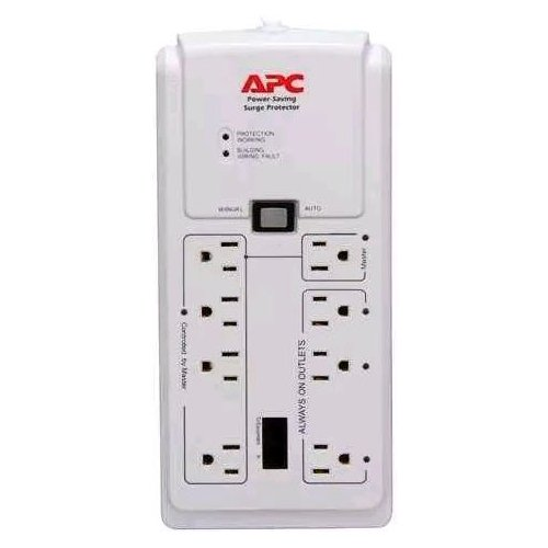 APC P8GT 8 Outlets 120V Power-Saving Home/Office SurgeArrest with Phone Protection by APC