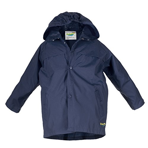 Girls Rain Slicker (Splashy Children's Rain Jacket (8, Navy))