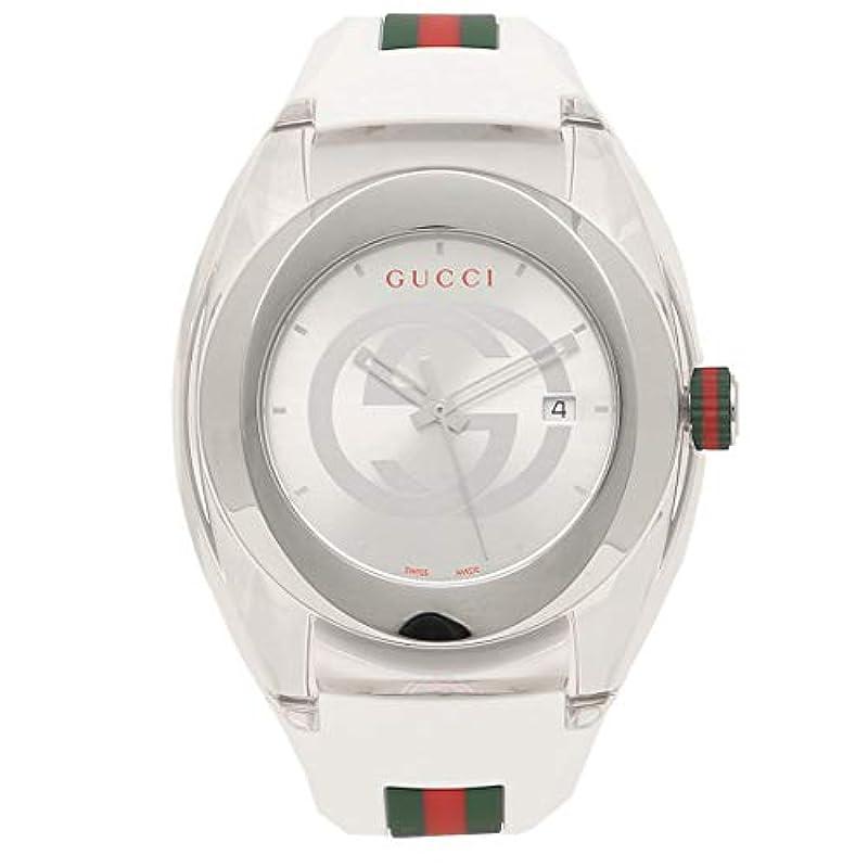 [구찌]시계 GUCCI SYNC think 46MM 쿼츠 손목시계 워치 선택할 수 있는 컬러 (pos)YA137102 화이트 [병행수입품]