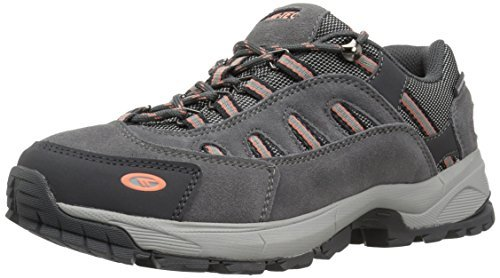 Hi-Tec Women's Bandera Ultra Low Waterproof Backpacking Boot, Steel Grey/Grey/Papaya Punch, 8.5 M US by Hi-Tec