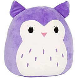 "Squishmallow Kellytoy 16"" Holly The Purple Owl Super Soft Plush Toy Pillow Animal Pet Pal Buddy (Holly The Purple)"
