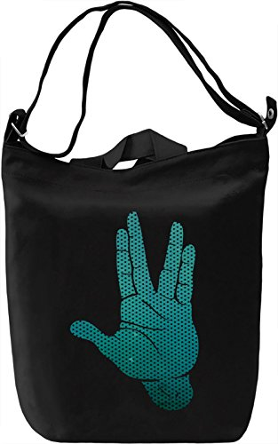 Spocks Hand Galaxy Borsa Giornaliera Canvas Canvas Day Bag| 100% Premium Cotton Canvas| DTG Printing|