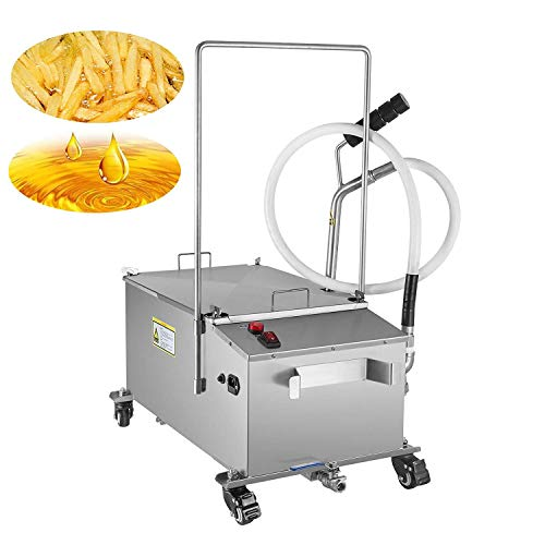 VEVOR Mobile Fryer Filter 80LB. Capacity Oil Filtration System 300W Fryer Filter Frying Oil Filtering System 110v/60Hz (Oil Capacity 40L/10.56 Gallon) ()