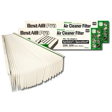 BestAir Pro SGMPR-2 Replacement for Aprilaire # 201 Filter (Pack of 2)