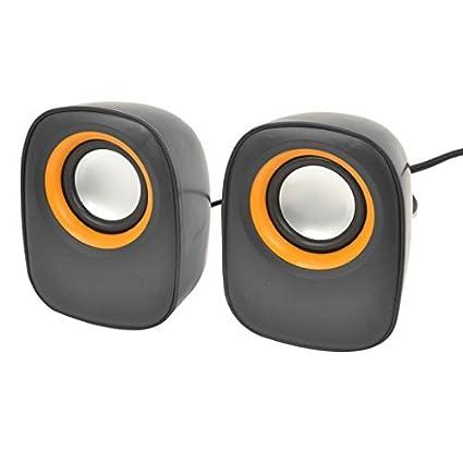 eDealMax 2 x Negro Carcasa de plástico USB 2.0 Mini estéreo DE 3,5 mm