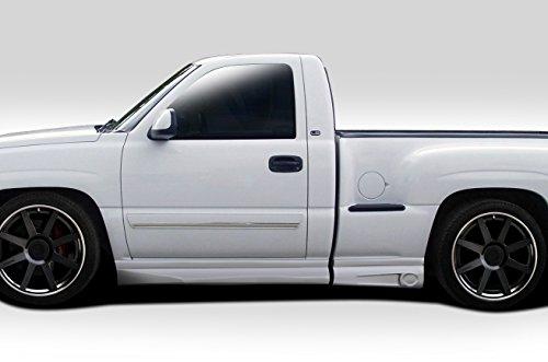 Duraflex Replacement for 1999-2006 Chevrolet Silverado / 2000-2006 GMC Sierra Regular Cab Fleetside Stepside BT-1 Side Skirt Rocker Panels - 4 Piece
