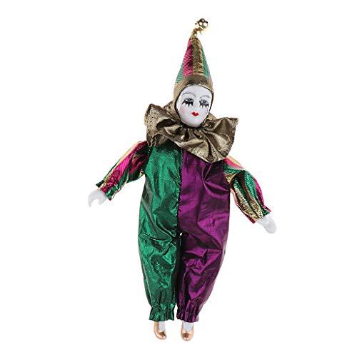 - Fenteer 9 Inch Porcelain Dolls Italian Eros Triangel Dolls Model Sad Clown for Dollhouse Decoration #