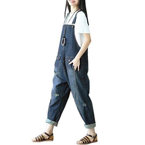 Vêtements Au Denim Court Swag Overall La Printemps 12 Bib Femmes Tendance Large Automne Longues Couleur Déchiré Travail De Girls Harem Pants Streetwear Mode 8qwAxXFxd