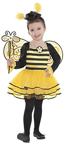 Amscan 841853 Girls Ballerina Bee Costume - Toddler (3-4), Multicolor
